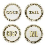 Cock/Tail Glasunderlägg 4-pack