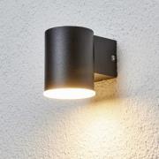 Enkel LED-utomhusvägglampa Morena i svart